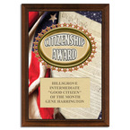 Full Color Citizenship Award Plaque - Cherry Finish