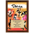 "5"" x 7"" Full Color Dance Plaque - Cherry Finish"