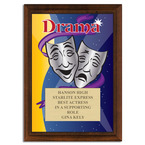 Full Color Drama Plaque - Cherry Finish
