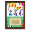 Field Day Award Plaque - Cherry Finish