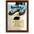 5&quot; x 7&quot; Full Color Hockey Plaque - Cherry Finish