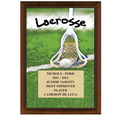 "5"" x 7"" Full Color Lacrosse Plaque - Cherry Finish"