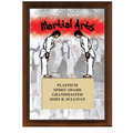 Martial Arts Award Plaque - Cherry Finish