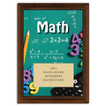 Full Color Math Plaque - Cherry Finish