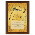 Full Color Music Plaque - Cherry Finish