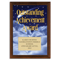 Full Color Outstanding Achievement Award Plaque - Cherry Finish