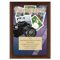Full Color Photography Plaque - Cherry Finish