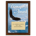 Full Color Principal's Award Plaque - Cherry Finish