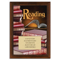 Full Color Reading Plaque - Cherry Finish