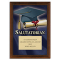 Full Color Salutatorian Plaque - Cherry Finish