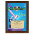 Full Color Science Plaque - Cherry Finish