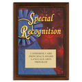 Full Color Special Recognition Plaque - Cherry-Toned