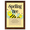Full Color Spelling Bee Plaque - Cherry Finish
