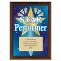Full Color Star Performer Plaque - Cherry Finish