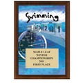 "5"" x 7"" Full Color Swimming Plaque - Cherry Finish"