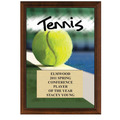 "5"" x 7"" Full Color Tennis Plaque - Cherry Finish"