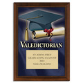 Full Color Valedictorian Plaque - Cherry Finish
