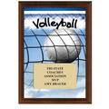 "5"" x 7"" Full Color Volleyball Plaque - Cherry Finish"