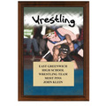 Wrestling Award Plaque - Cherry Finish