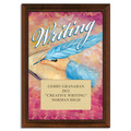 Full Color Writing Plaque - Cherry Finish