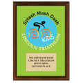 "5"" x 7"" Full Color Custom School Award Plaque - Cherry Finished"