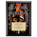 Full Color Academic Excellence Plaque - Black
