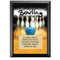 5&quot; x 7&quot; Full Color Bowling Black Wood Plaque