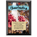 "5"" x 7"" Full Color Cheerleading Black Wood Plaque"