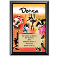 "5"" x 7"" Full Color Dance Black Wood Plaque"