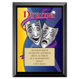 Full Color Drama Plaque - Black