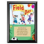 Full Color Field Day Plaque - Black