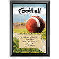 "5"" x 7"" Full Color Football Black Wood Plaque"