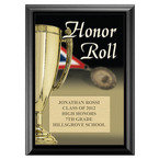 Full Color Honor Roll Plaque - Black