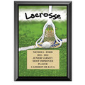 "5"" x 7"" Full Color Lacrosse Black Wood Plaque"