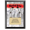 "5"" x 7"" Full Color Martial Arts Black Wood Plaque"
