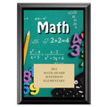 Full Color Math Plaque - Black
