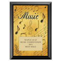 Full Color Music Plaque - Black