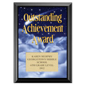 Full Color Outstanding Achievement Award Plaque - Black