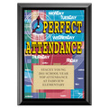 Full Color Perfect Attendance Plaque - Black