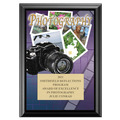 Full Color Photography Plaque - Black