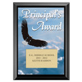 Full Color Principal's Award Plaque - Black