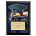 Full Color Salutatorian Plaque - Black
