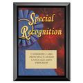 Full Color Special Recognition Plaque - Black
