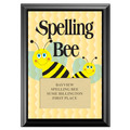Spelling Bee Award Plaque - Black