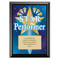 Full Color Star Performer Plaque - Black