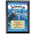 5&quot; x 7&quot; Full Color Swimming Black Wood Plaque