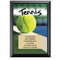 "5"" x 7"" Full Color Tennis Black Wood Plaque"