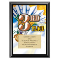 Full Color Third Place Plaque - Black