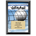 "5"" x 7"" Full Color Volleyball Black Wood Plaque"