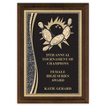 5&quot; x 7&quot; Brass Designer Bowling Plaque